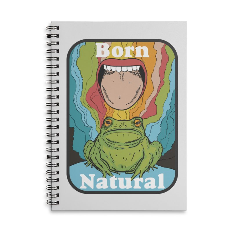 born natural Accessories Lined Spiral Notebook by The Cool Orange