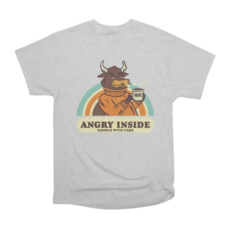 angry inside Men's Heavyweight T-Shirt by The Cool Orange