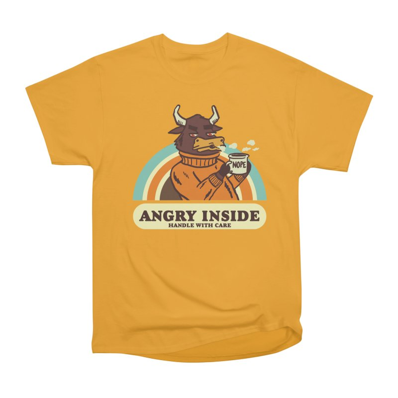 angry inside Women's Heavyweight Unisex T-Shirt by The Cool Orange