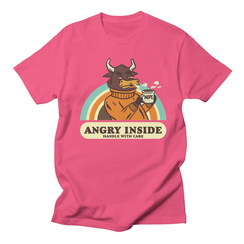 angry inside Women's Regular Unisex T-Shirt by The Cool Orange