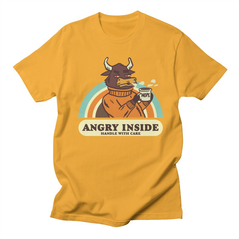 angry inside Men's Regular T-Shirt by The Cool Orange