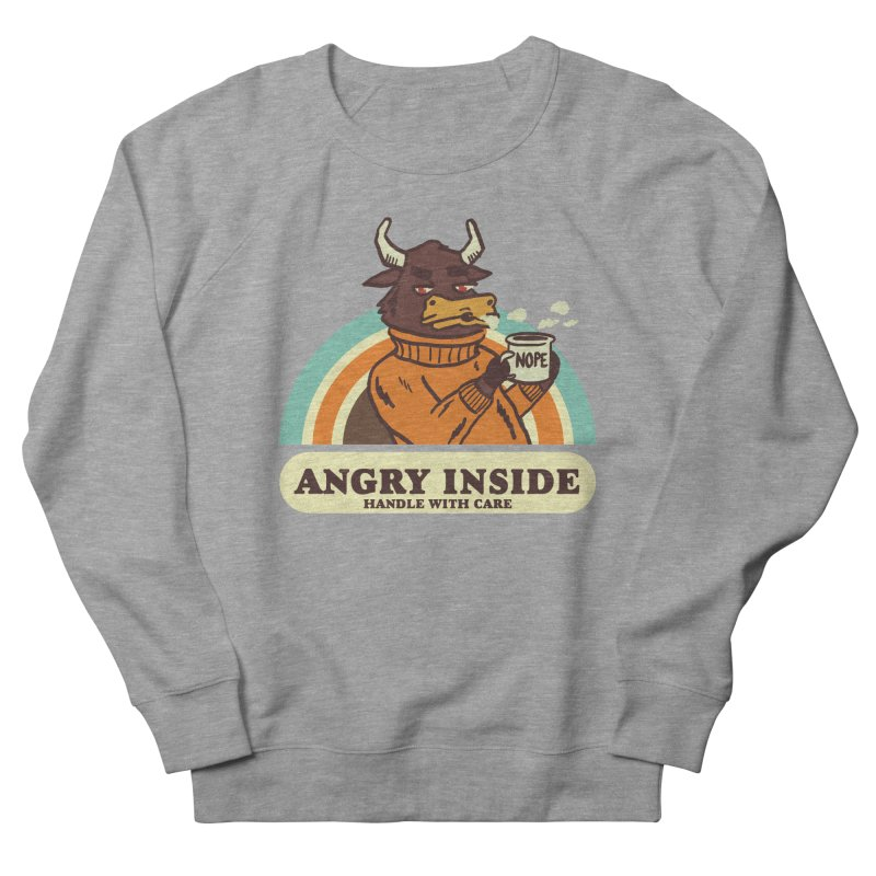 angry inside Men's French Terry Sweatshirt by The Cool Orange