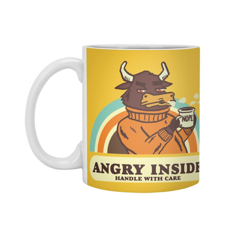 angry inside Accessories Standard Mug by The Cool Orange