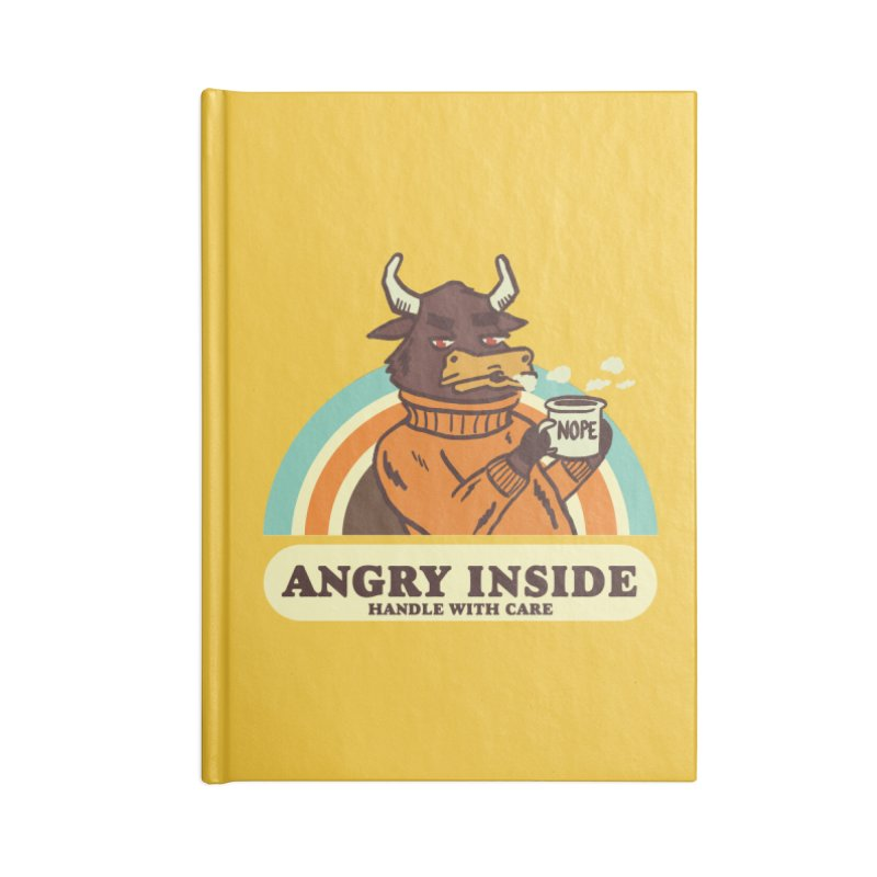 angry inside Accessories Lined Journal Notebook by The Cool Orange