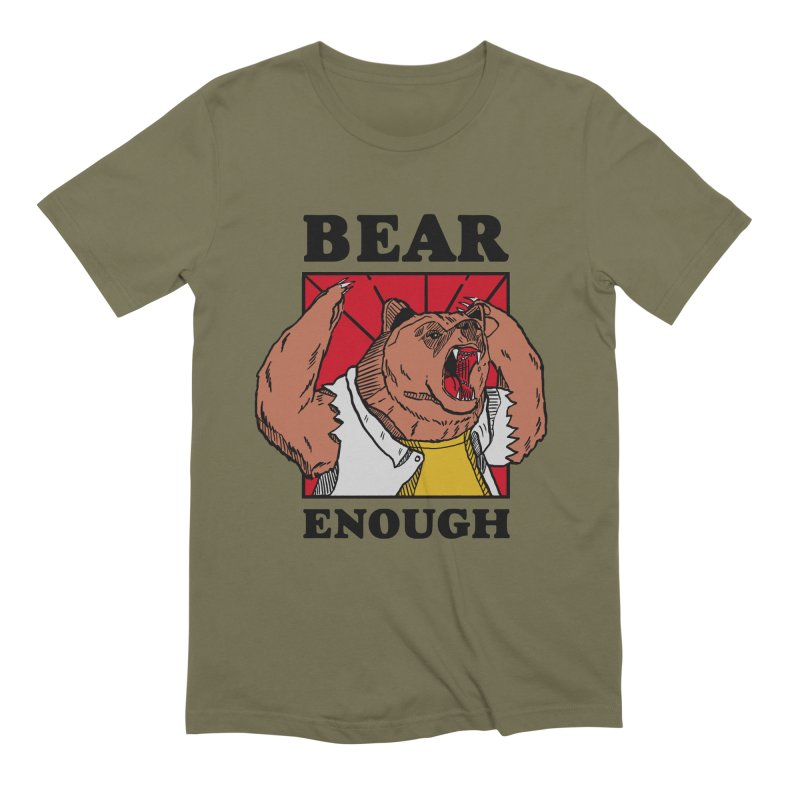 bear enough Men's Extra Soft T-Shirt by The Cool Orange