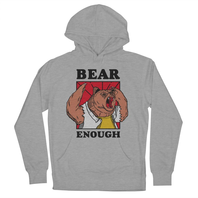 bear enough Men's French Terry Pullover Hoody by The Cool Orange
