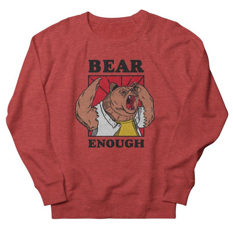 bear enough Women's French Terry Sweatshirt by The Cool Orange