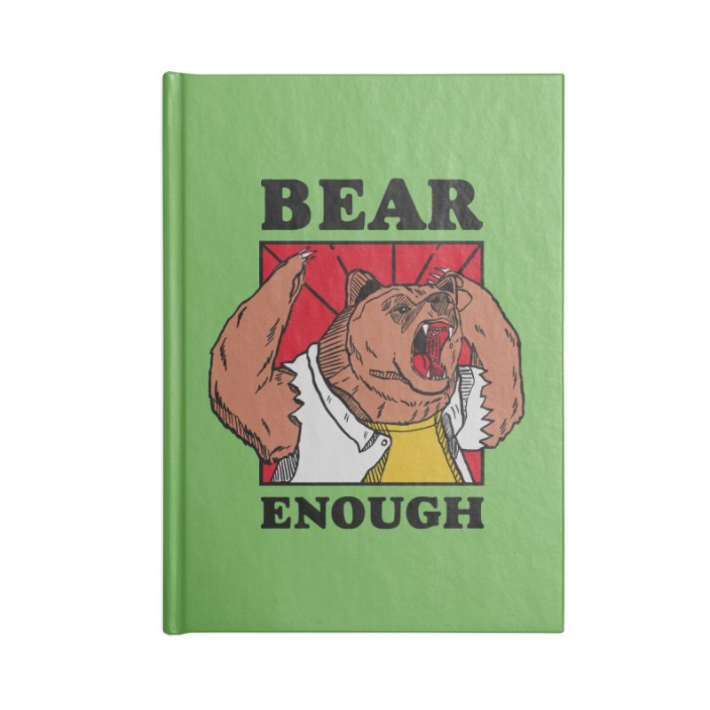 bear enough Accessories Blank Journal Notebook by The Cool Orange