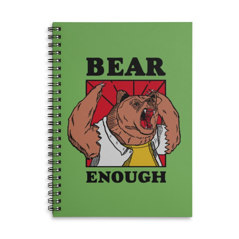 bear enough Accessories Lined Spiral Notebook by The Cool Orange