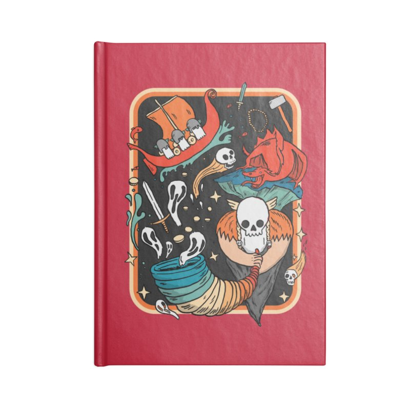 odino calls you Accessories Lined Journal Notebook by The Cool Orange