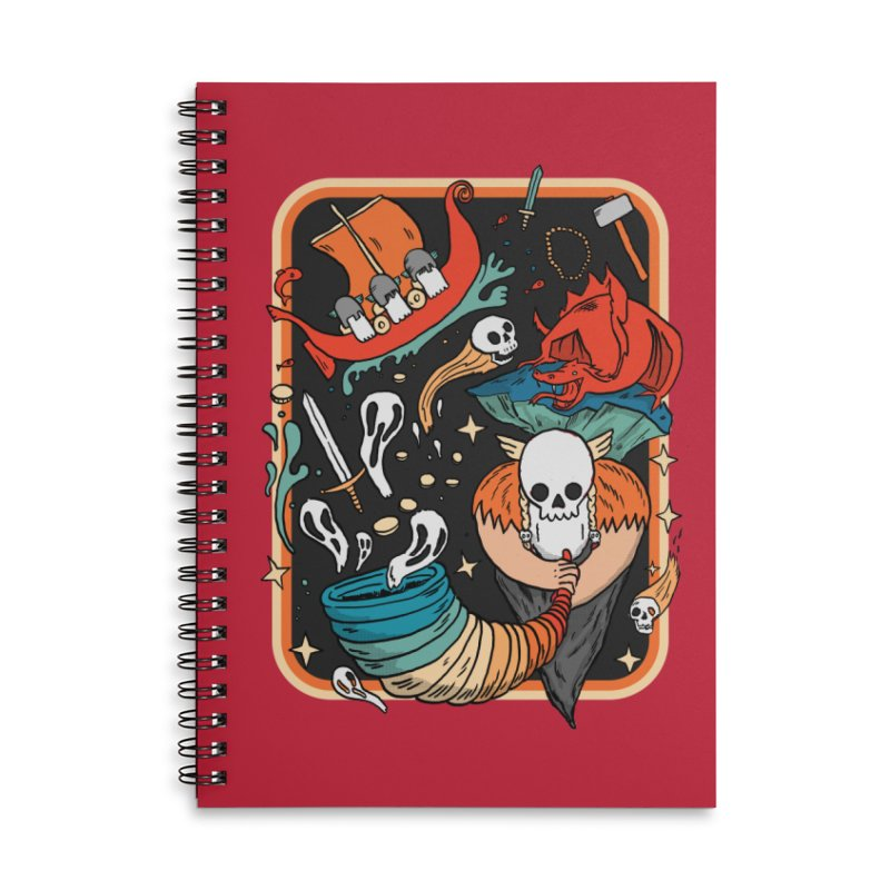 odino calls you Accessories Lined Spiral Notebook by The Cool Orange