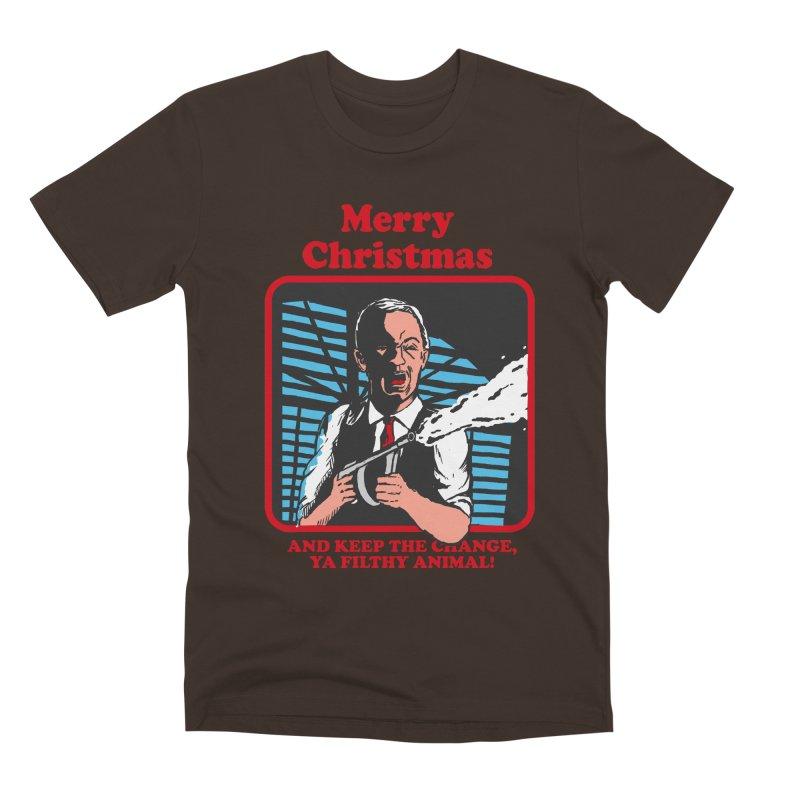 merry christmas ya filthy animal Men's Premium T-Shirt by The Cool Orange