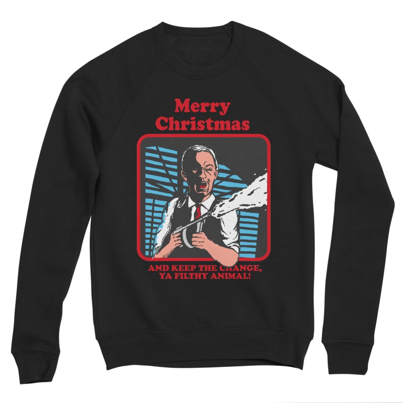 merry christmas ya filthy animal Men's Sponge Fleece Sweatshirt by The Cool Orange