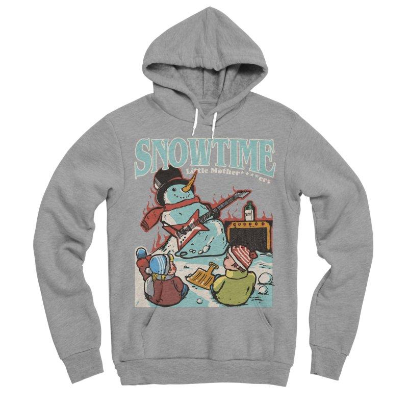 snowtime Men's Sponge Fleece Pullover Hoody by The Cool Orange