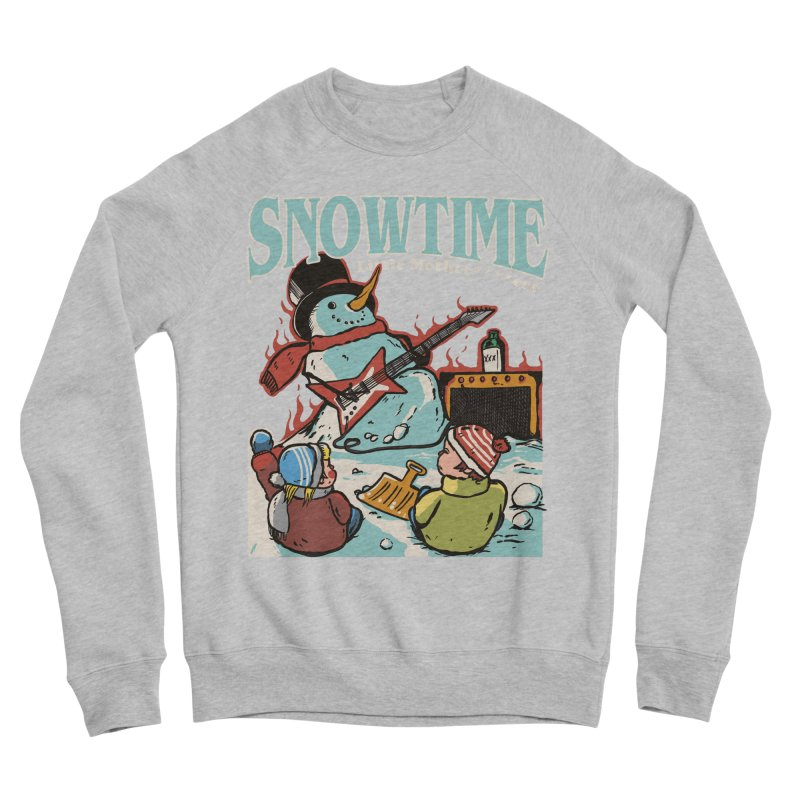 snowtime Men's Sponge Fleece Sweatshirt by The Cool Orange