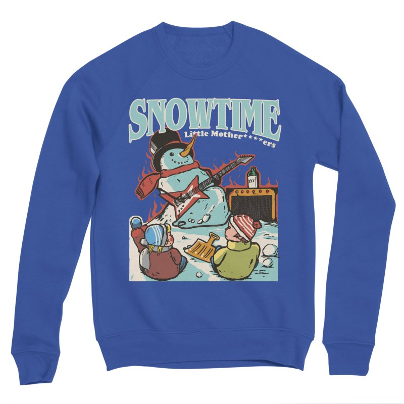 snowtime Men's Sponge Fleece Sweatshirt by The Cool Orange