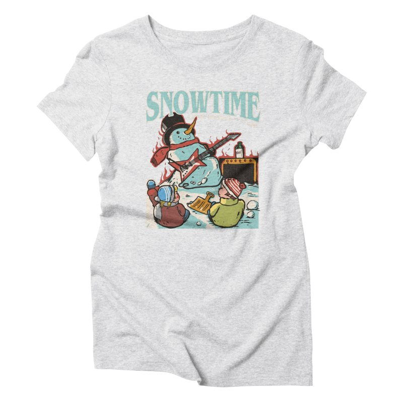 snowtime Women's Triblend T-Shirt by The Cool Orange