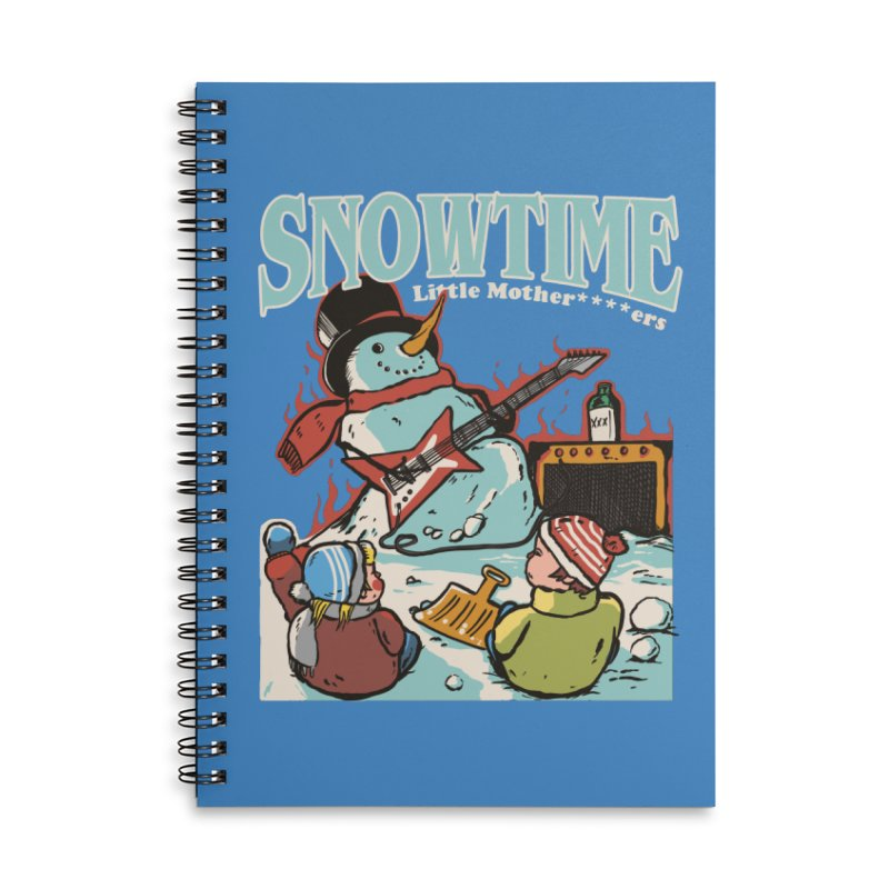snowtime Accessories Lined Spiral Notebook by The Cool Orange