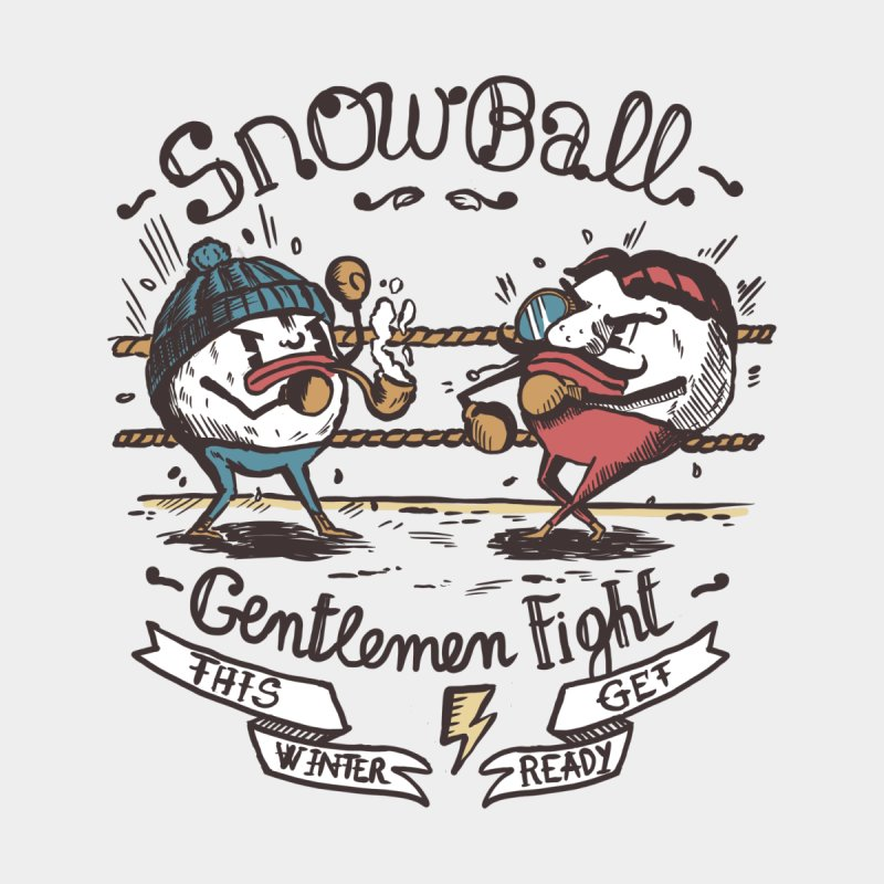 gentlemen snowball fight by The Cool Orange