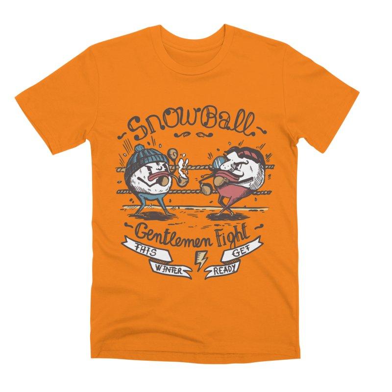 gentlemen snowball fight Men's Premium T-Shirt by The Cool Orange