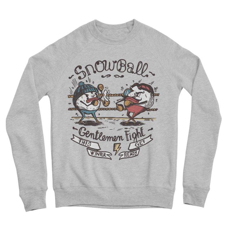 gentlemen snowball fight Women's Sponge Fleece Sweatshirt by The Cool Orange