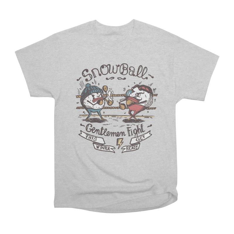 gentlemen snowball fight Women's Heavyweight Unisex T-Shirt by The Cool Orange