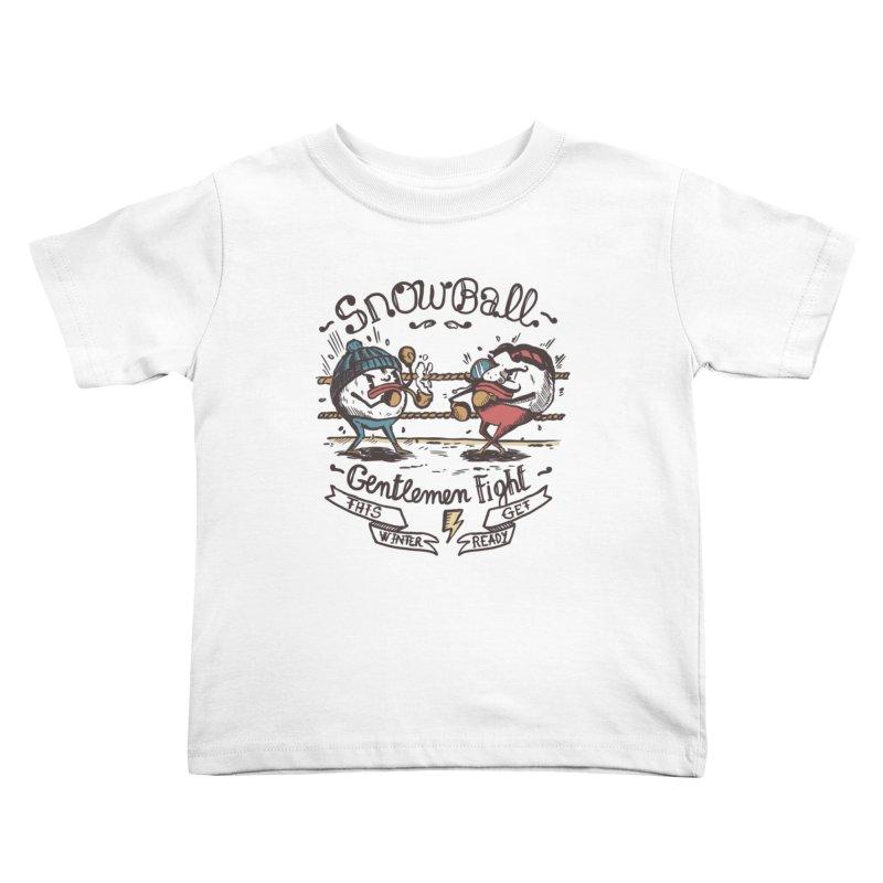 gentlemen snowball fight Kids Toddler T-Shirt by The Cool Orange