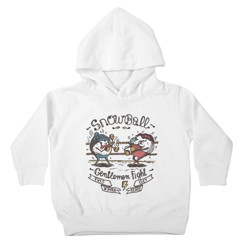 gentlemen snowball fight Kids Toddler Pullover Hoody by The Cool Orange