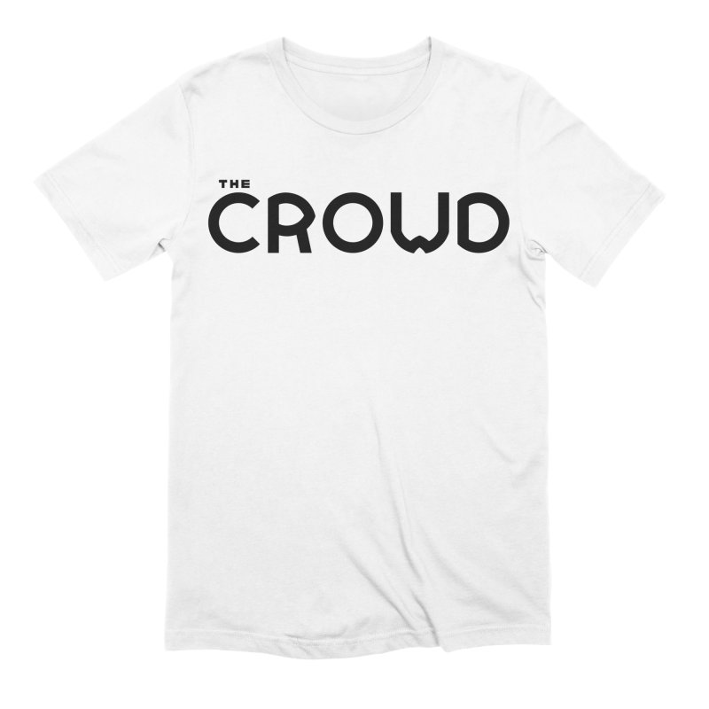 Black Logo Men's Extra Soft T-Shirt by thecrowd's Artist Shop