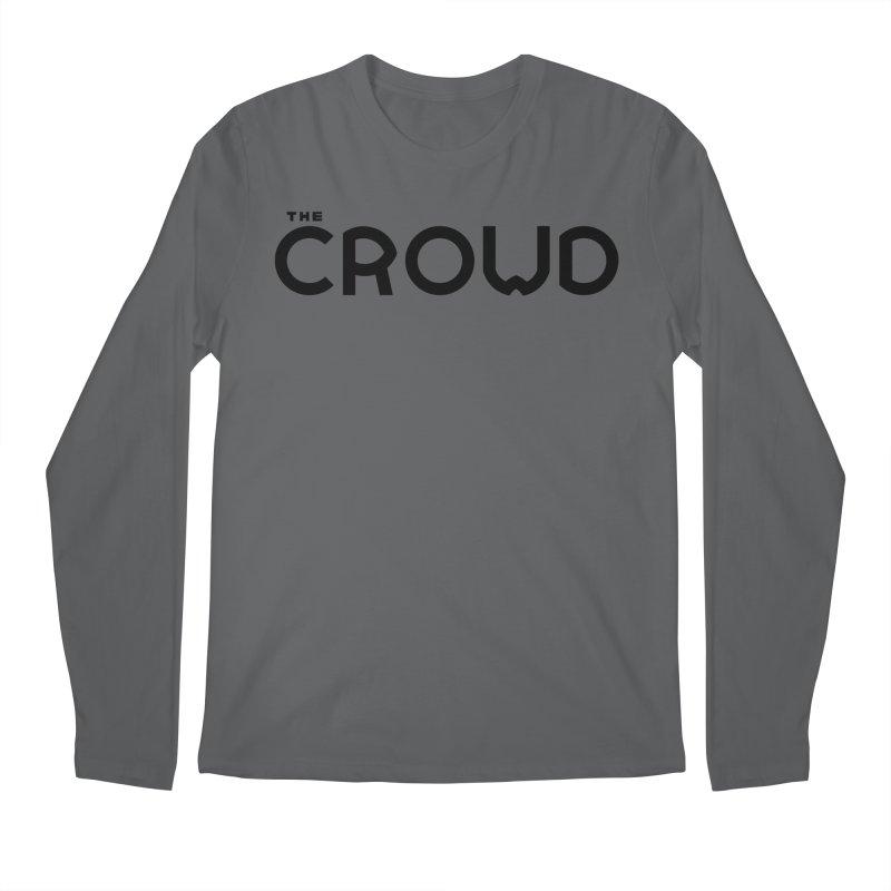 Black Logo Men's Regular Longsleeve T-Shirt by thecrowd's Artist Shop