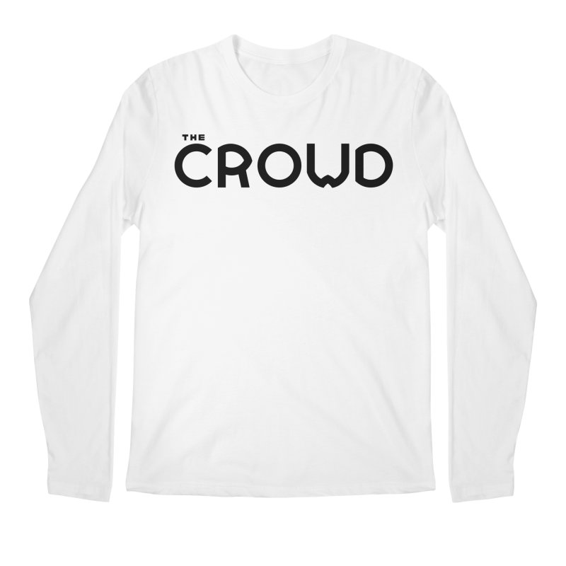 Black Logo Men's Regular Longsleeve T-Shirt by thecrowd's Artist Shop