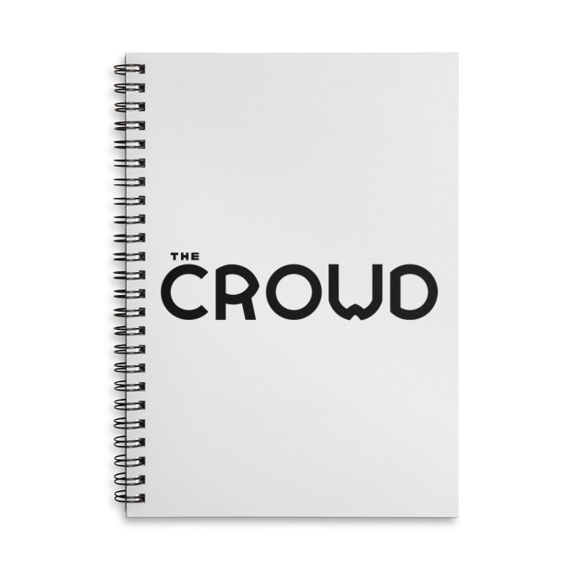 Black Logo Accessories Lined Spiral Notebook by thecrowd's Artist Shop