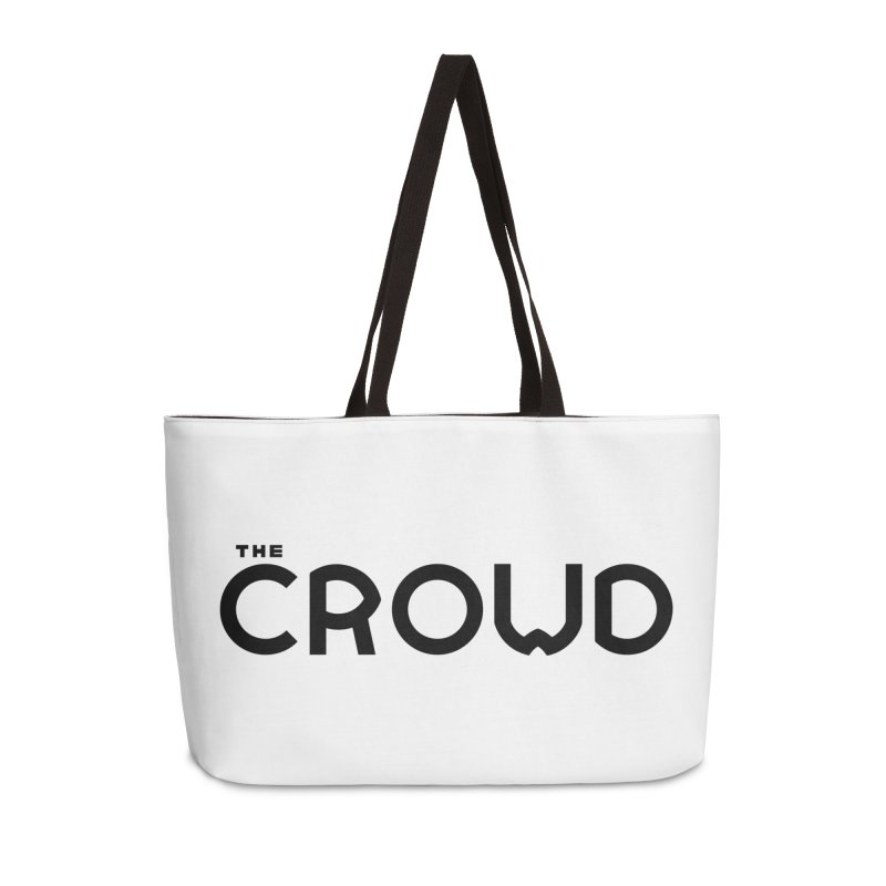 Black Logo Accessories Weekender Bag Bag by thecrowd's Artist Shop