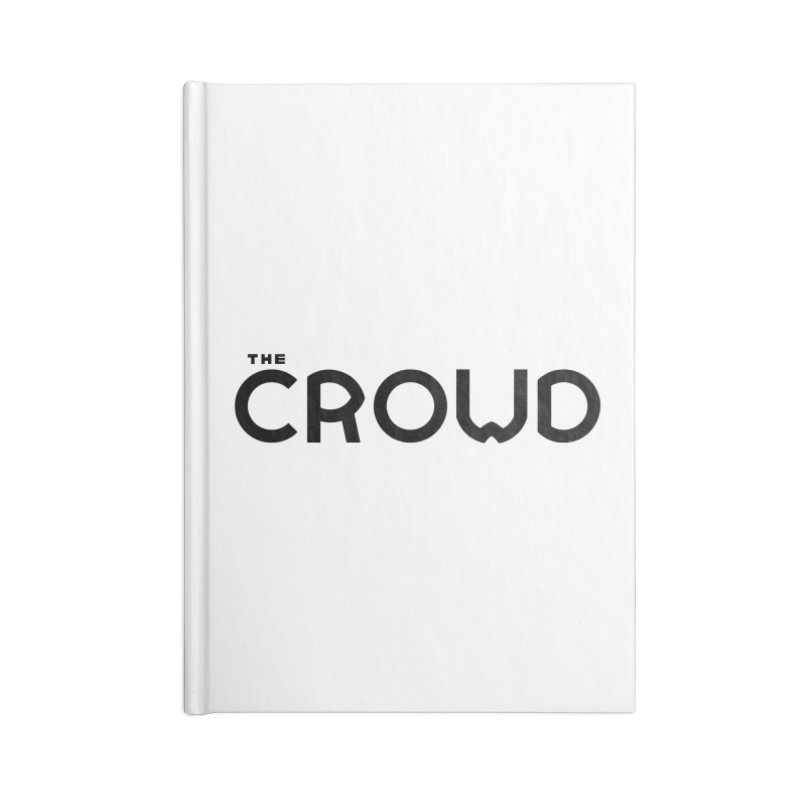 Black Logo Accessories Lined Journal Notebook by thecrowd's Artist Shop