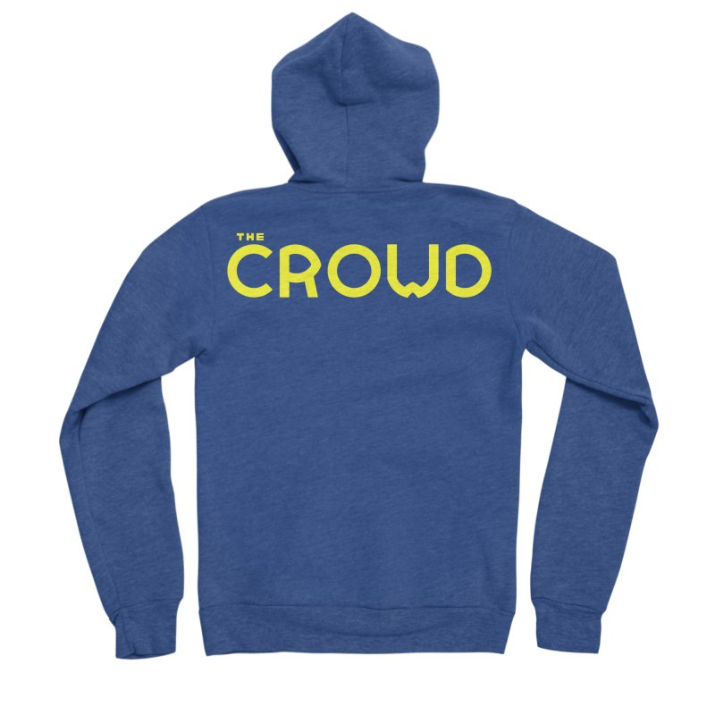 Gold Logo Women's Sponge Fleece Zip-Up Hoody by thecrowd's Artist Shop