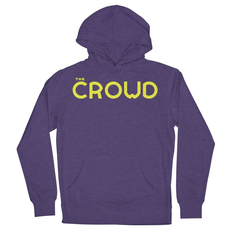 Gold Logo Men's French Terry Pullover Hoody by thecrowd's Artist Shop