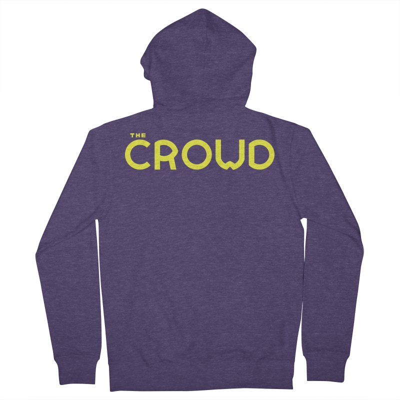 Gold Logo Men's French Terry Zip-Up Hoody by thecrowd's Artist Shop