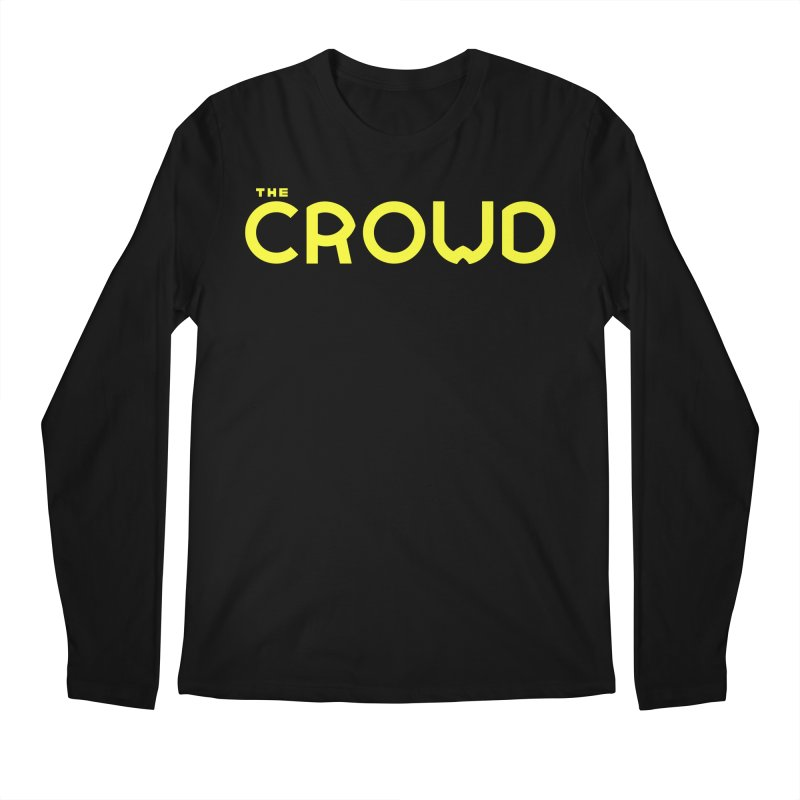 Gold Logo Men's Regular Longsleeve T-Shirt by thecrowd's Artist Shop