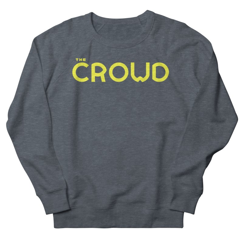 Gold Logo Men's French Terry Sweatshirt by thecrowd's Artist Shop