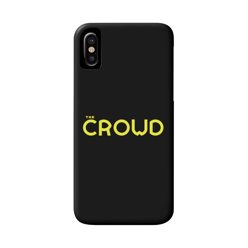 Gold Logo Accessories Phone Case by thecrowd's Artist Shop