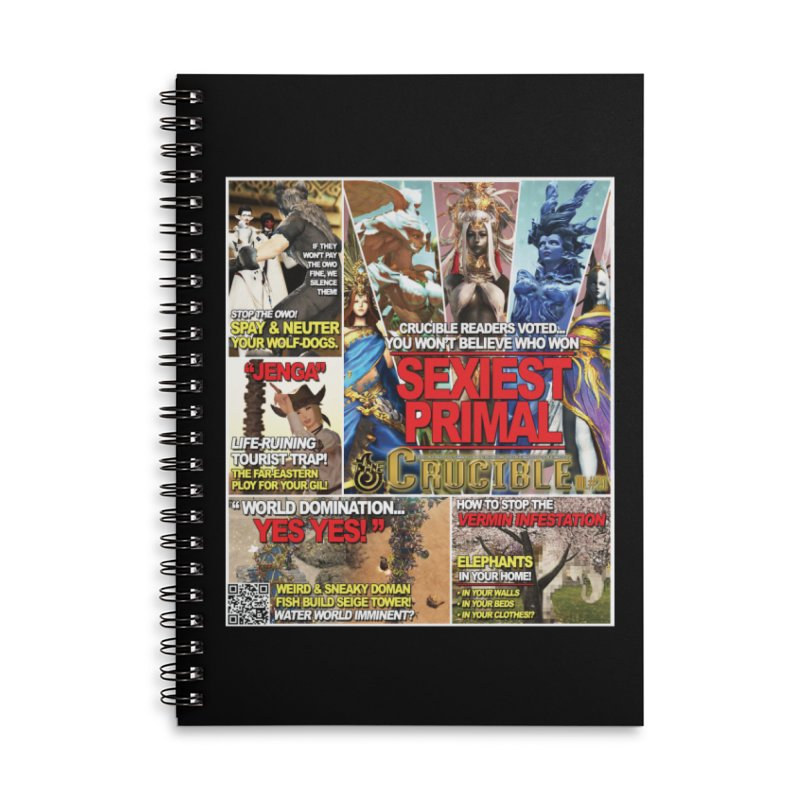 July 2018 Notebooks Accessories Lined Spiral Notebook by The Crucible FFXIV