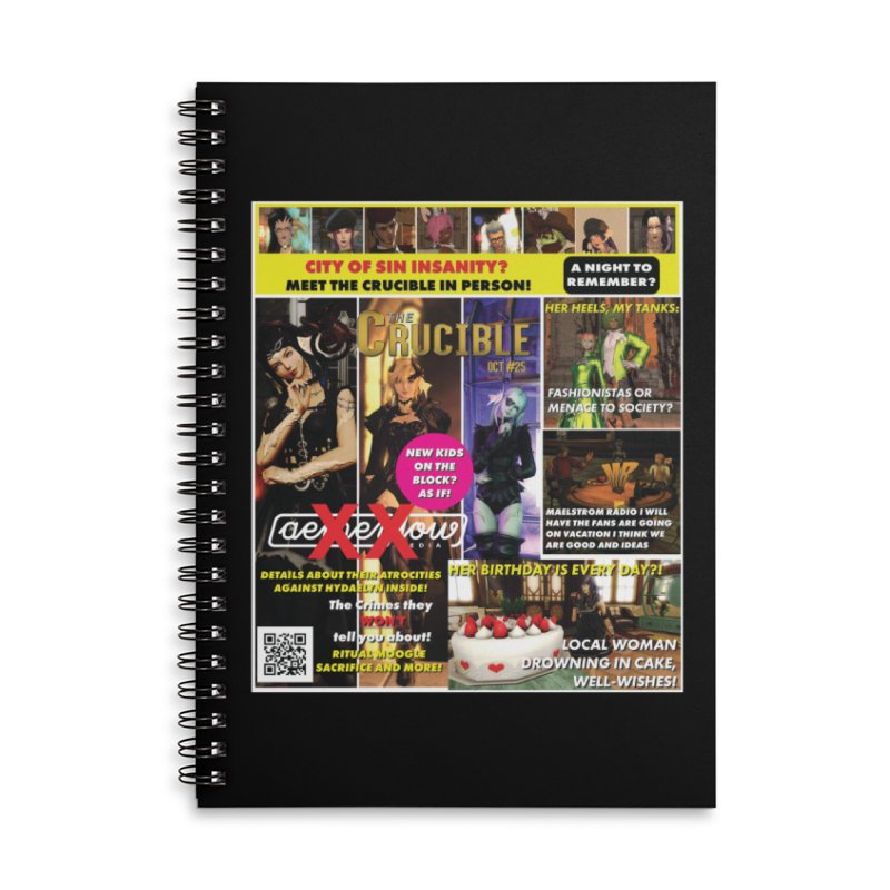 October 2018 Notebooks Accessories Lined Spiral Notebook by The Crucible FFXIV