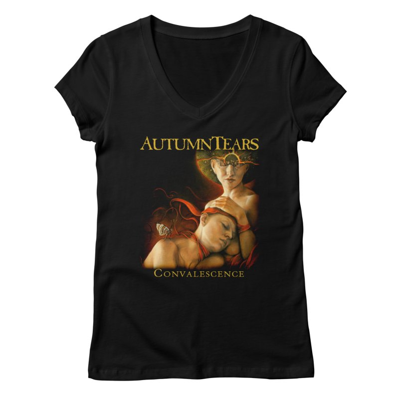 AUTUMN TEARS - Convalescence Women's V-Neck by DARK SYMPHONIES / THE CRYPT Apparel
