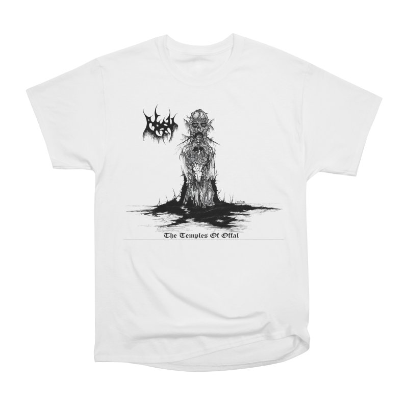 ABSU - The Temples Of Offal in Men's Heavyweight T-Shirt White by DARK SYMPHONIES / THE CRYPT Apparel
