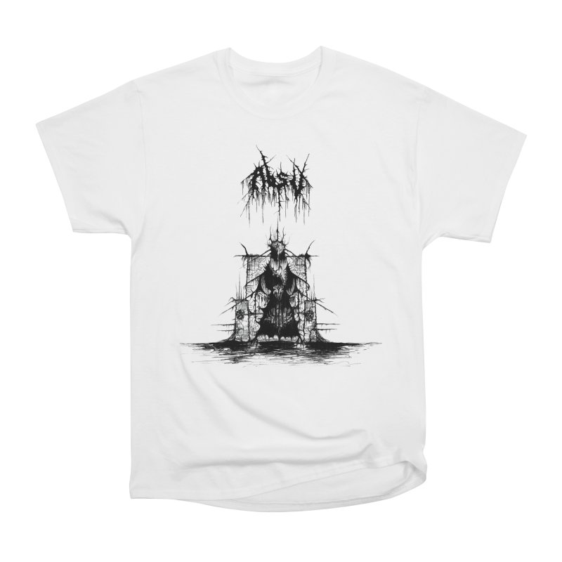 ABSU - The Temples Of Offal (Variant) in Men's Heavyweight T-Shirt White by DARK SYMPHONIES / THE CRYPT Apparel