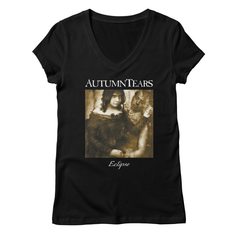 AUTUMN TEARS - Eclipse Women's Regular V-Neck by DARK SYMPHONIES / THE CRYPT Apparel