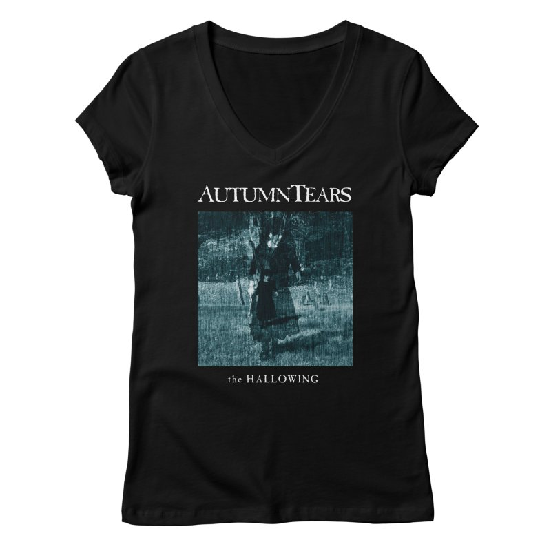AUTUMN TEARS - The Hallowing Women's V-Neck by DARK SYMPHONIES / THE CRYPT Apparel