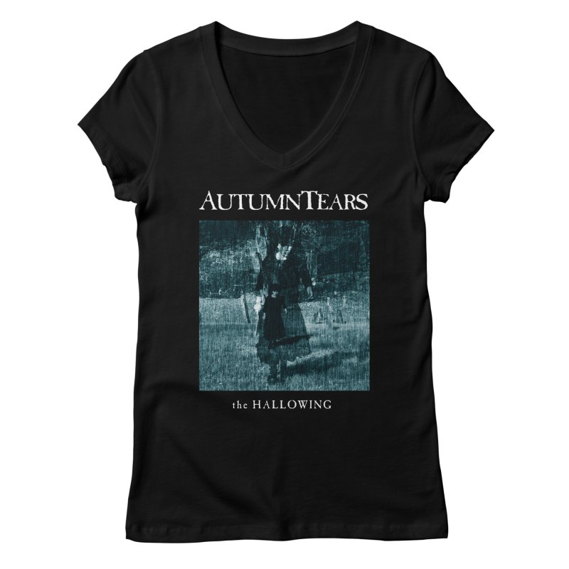 AUTUMN TEARS - The Hallowing Women's Regular V-Neck by DARK SYMPHONIES / THE CRYPT Apparel