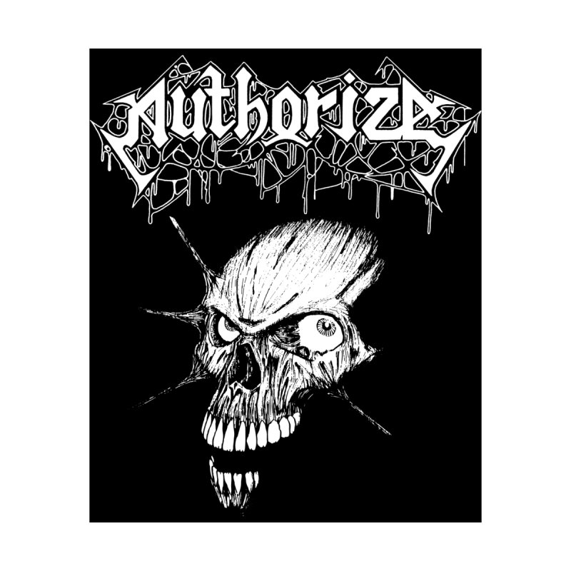"AUTHORIZE - ""Skull"" Design Men's T-Shirt by DARK SYMPHONIES / THE CRYPT Apparel"
