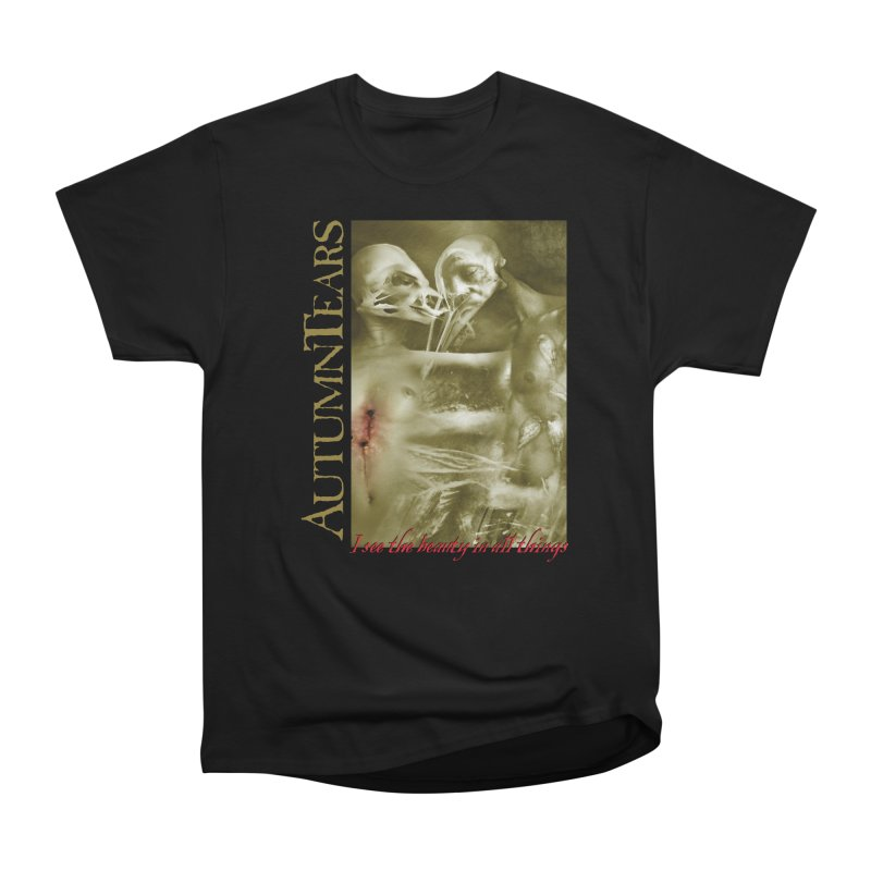 AUTUMN TEARS - The Beauty In All Things in Men's Heavyweight T-Shirt Black by DARK SYMPHONIES / THE CRYPT Apparel